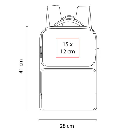 SIN 345 G mochila cartaya color gris 6