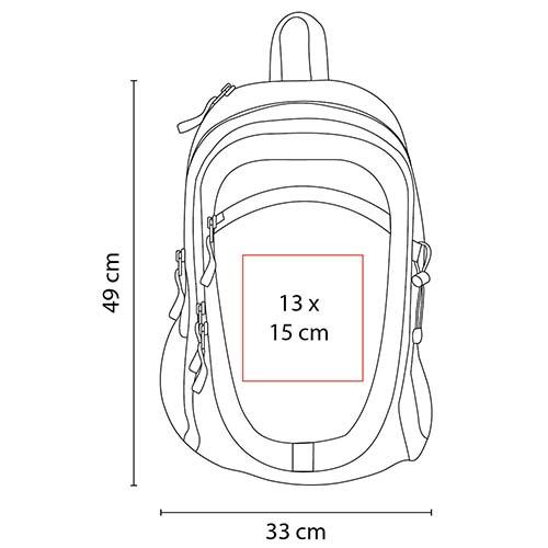 SIN 903 R mochila adventure color rojo 4