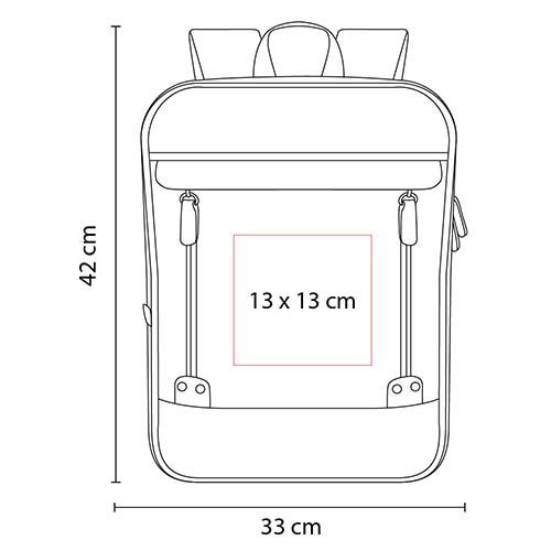 SIN 965 R mochila haisla color rojo 4