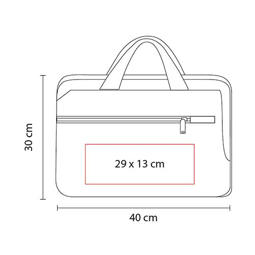 SIN 970 R porta laptop barletta color rojo 3