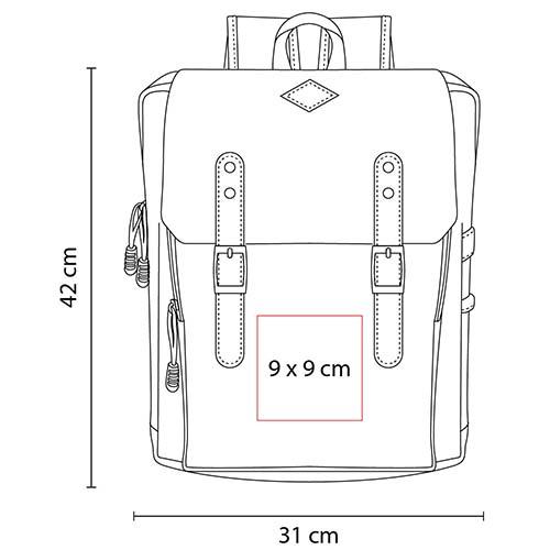 SIN 971 R mochila skadi color rojo 3