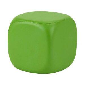 SOC 067 V cubo liso anti stress color verde