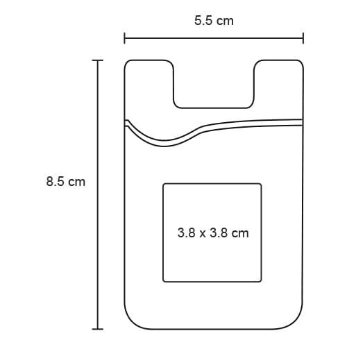 Tarjetero universal de silicón para-10
