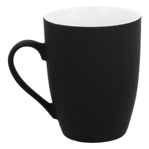 Taza de cerámica con acabado Rubber.-3
