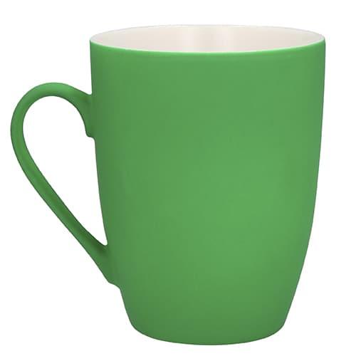Taza de cerámica con acabado Rubber.-5