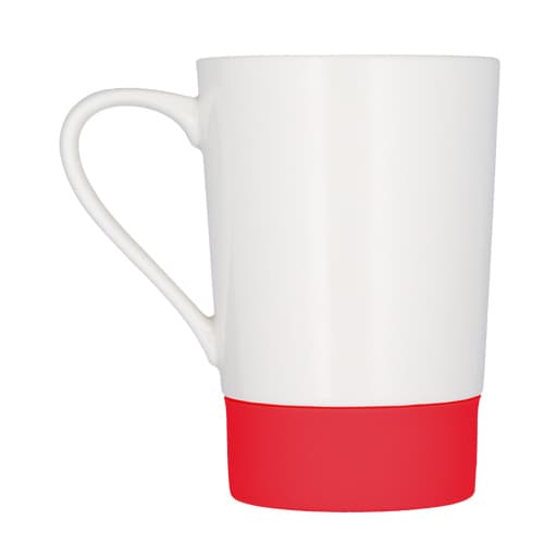 Taza de cerámica con cintillo de silicón-3