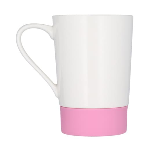 Taza de cerámica con cintillo de silicón-5