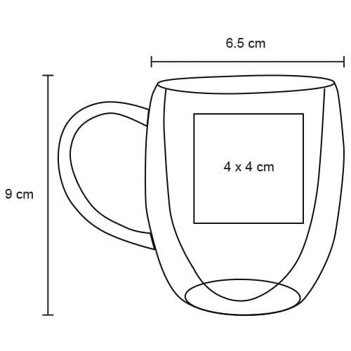 Taza de vidrio doble pared. Cap. 175 ml.-2