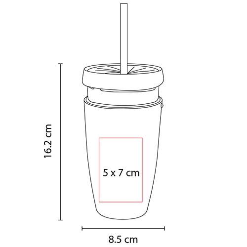 TMPS 22 R vaso argens color rojo 2
