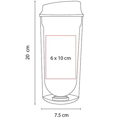 TMPS 27 R vaso logam color rojo 3