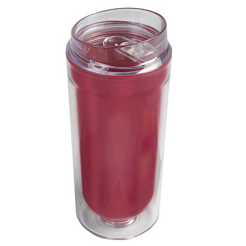 TMPS 27 R vaso logam color rojo