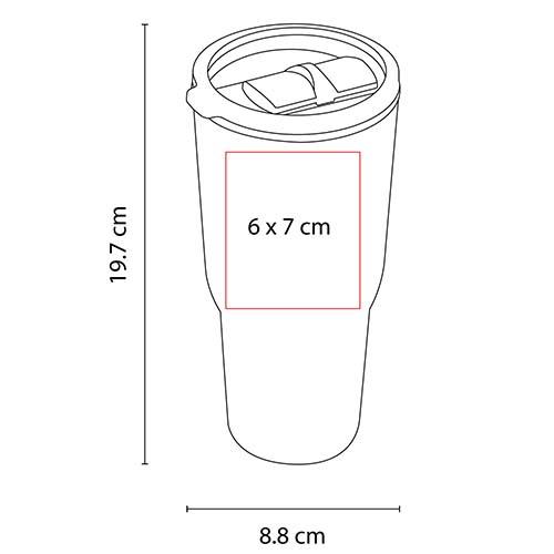 TMPS 76 R vaso aoba color rojo 2