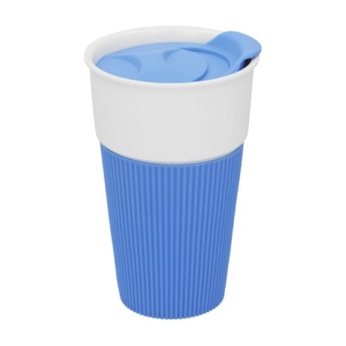 Vaso de cerámica con manga de silicón.-2