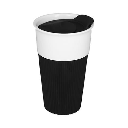 Vaso de cerámica con manga de silicón.-3