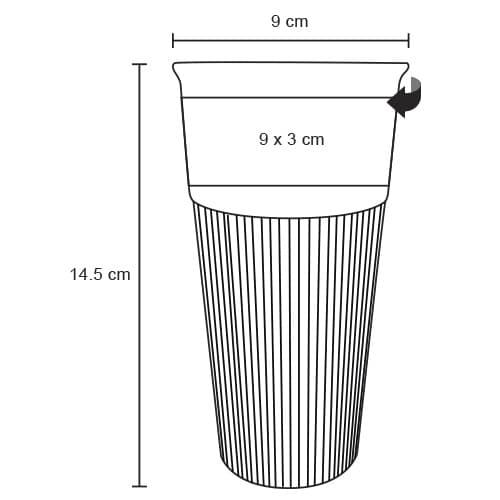Vaso de cerámica con manga de silicón.-5