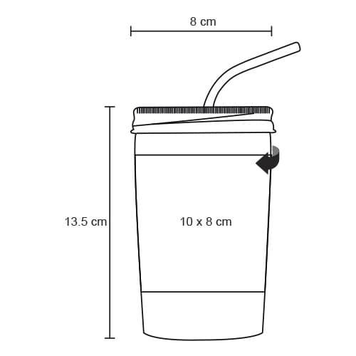Vaso de cerámica con tapa y popote-3